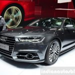 Audi A6 facelift front three quarters right at the 2014 Paris Motor Show
