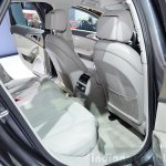Audi A6 facelift rear seat ingress at the 2014 Paris Motor Show