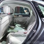 Audi A6 facelift rear seat view at the 2014 Paris Motor Show