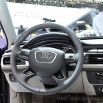 Audi A6 facelift steering wheel at the 2014 Paris Motor Show