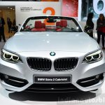 BMW 2 Series Convertible front at the 2014 Paris Motor Show