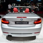 BMW 2 Series Convertible rear at the 2014 Paris Motor Show