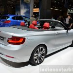 BMW 2 Series Convertible rear three quarters at the 2014 Paris Motor Show