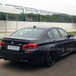 BMW M5 facelift rear three quarters in India