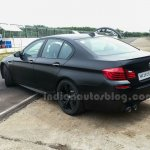 BMW M5 facelift rear three quarters left in India
