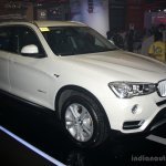 BMW X3 facelift front three quarters at 2014 Philippines Motor Show