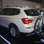 BMW X3 facelift rear three quarters left at 2014 Philippines Motor Show