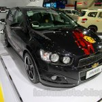 Chevrolet Aveo Manchester United Edition front three quarters at the 2014 Indonesia International Motor Show