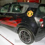 Chevrolet Aveo Manchester United Edition rear three quarters left at the 2014 Indonesia International Motor Show