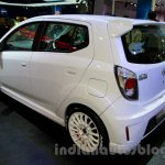 Daihatsu Ayla GT2 rear three quarters left at the Indonesia International Motor Show 2014