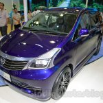 Daihatsu Xenia Indigo front three quarters right at the 2014 Indonesia International Motor Show