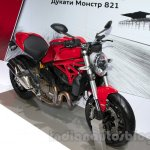 Ducati Monster 1200 front three quarters at the 2014 Moscow Motor Show