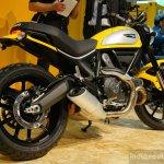 Ducati Scrambler yellow at INTERMOT 2014