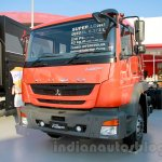 FUSO FJ 2523R 6×2 Super-long cargo, wing body front three quarters left at the Indonesia International Motor Show 2014