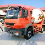 FUSO FJ 2528M 6×4 Heavy mixer front three quarters at the Indonesia International Motor Show 2014