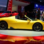 Ferrari 458 Speciale Aperta side at the 2014 Paris Motor Show