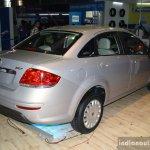 Fiat Linea facelift rear three quarter at the 2014 Nepal Auto Show