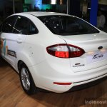 Ford Fiesta Facelift rear three quarter at the 2014 NADA Auto Show Nepal