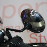 Hero Splendor Pro Classic chrome mirror at the 2014 Nepal Motor Show