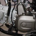 Hero Splendor Pro Classic engine at the 2014 Nepal Motor Show