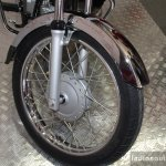 Hero Splendor Pro Classic front wheel at the 2014 Nepal Motor Show