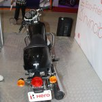 Hero Splendor Pro Classic rear at the 2014 Nepal Motor Show