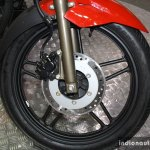 Hero Xtreme Sports front wheel at the 2014 Nepal Auto Show