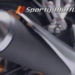 Honda CBR150R facelift muffler