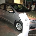 Honda City front right three quarter at the 2014 Nepal Auto Show
