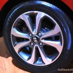 Hyundai Xcent Wheel at the 2014 Nepal Auto Show