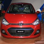 Hyundai Xcent front at the 2014 Nepal Auto Show