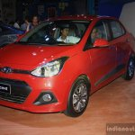 Hyundai Xcent front left three quarter at the 2014 Nepal Auto Show