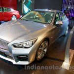 Infiniti Q50 Hybrid front three quarters right at the 2014 Indonesia International Motor Show