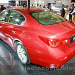 Infiniti Q50 rear three quarters left at the 2014 Indonesia International Motor Show