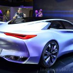 Infiniti Q80 Inspiration Concept rear three quarters right at the 2014 Paris Motor Show