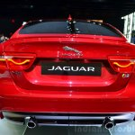 Jaguar XE S rear at the 2014 Paris Motor Show