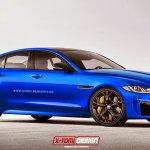 Jaguar XE SVR front rendering