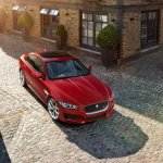 Jaguar XE front three quarters top official image