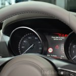 Jaguar XE instrument console at the 2014 Paris Motor Show