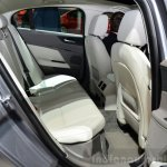 Jaguar XE rear seat ingress at the 2014 Paris Motor Show
