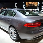 Jaguar XE rear three quarters left at the 2014 Paris Motor Show