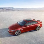 Jaguar XE side top view official image