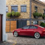 Jaguar XE side view rear official image