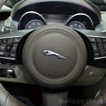 Jaguar XE steering buttons at the 2014 Paris Motor Show