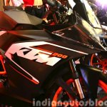 KTM RC200 decal at the Indian launch