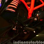 KTM RC200 footpeg at the Indian launch