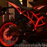 KTM RC200 frame and rear section at the Indian launch