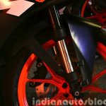 KTM RC200 front shock absorber at the Indian launch