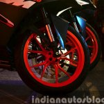 KTM RC200 front wheel at the Indian launch