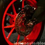 KTM RC200 rear disc brake at the Indian launch